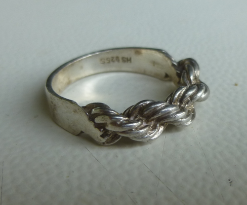 Siersbøl Sterling half scroll ring