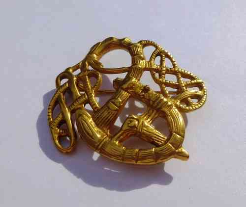 Replica Viking Age bronze Urnæs brooch
