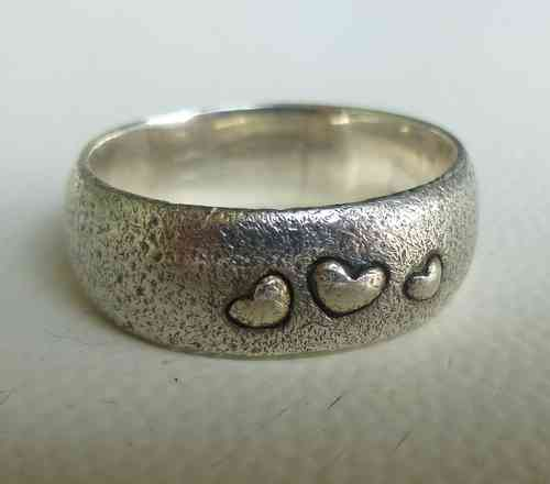 Aagaard ring with hearts, large size