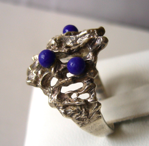 Siersbøl Sterling ring with blue balls, size O