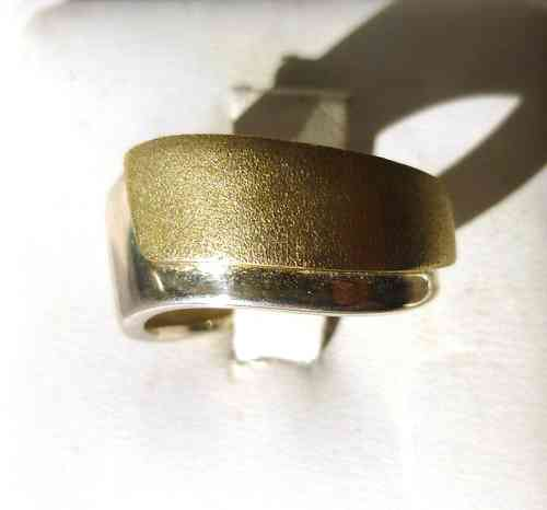 Aagaard  Sterling gold band ring, size N
