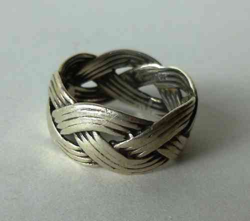 Kopi Viking braided ring, size S