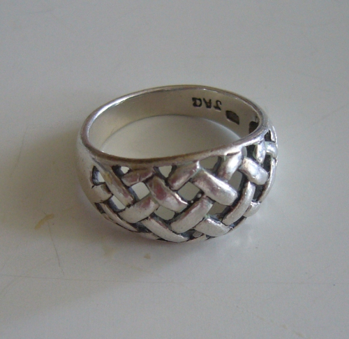 Aagaard Sterling lattice ring, size K