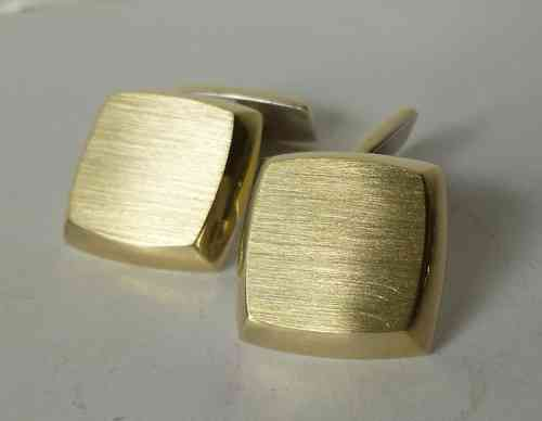 Siersbøl  Sterling matt gilt cufflinks