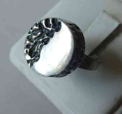 BeH Sterling lozenge ring, size N - O