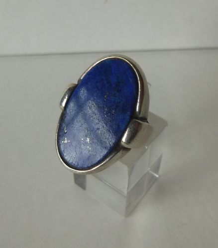 N E From Sterling lapis ring, size K-L /5.5