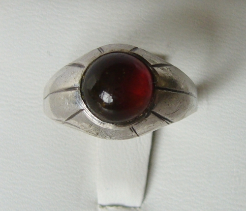 COF Sterling ring with amber, size N