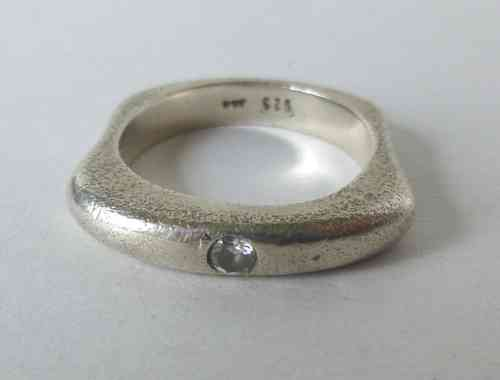Aagaard ring w stone, size O - P