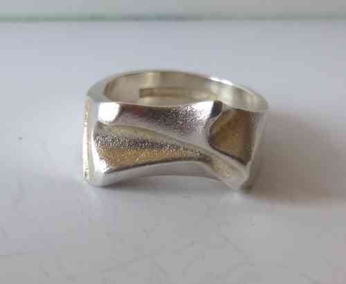 Lapponia folded Sterling silver ring, size O