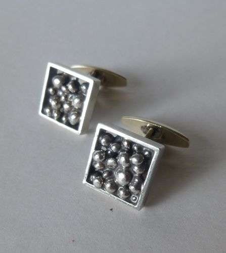 N.E.From Sterling silver square pellets cufflinks