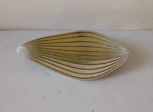 Anton Michelsen Eigil Jensen Sterling stylised leaf brooch