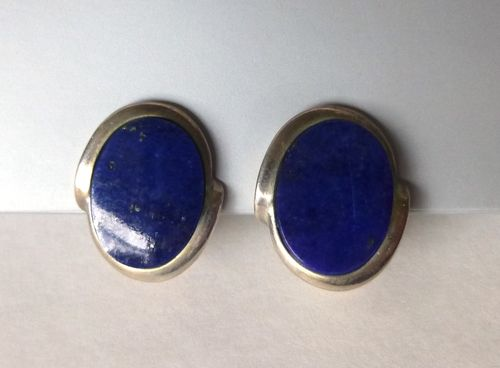 N.E.From Sterling lapis ear clips