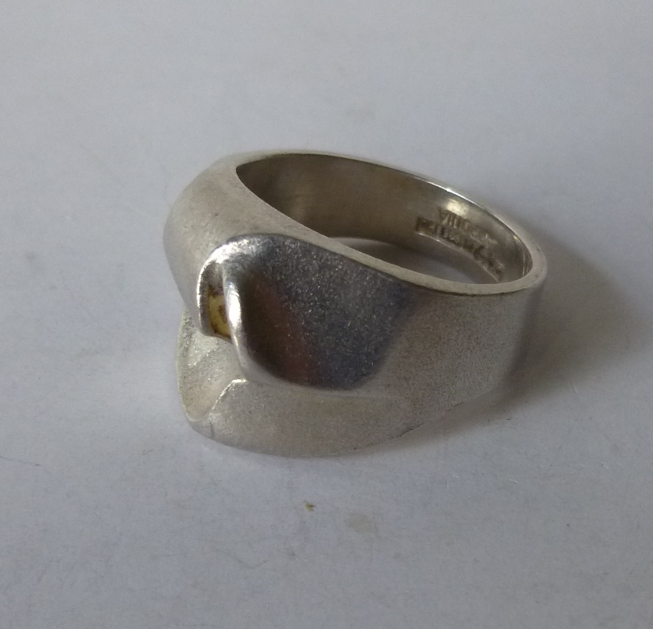 lapponia stering silver ring size o scandinavian silver