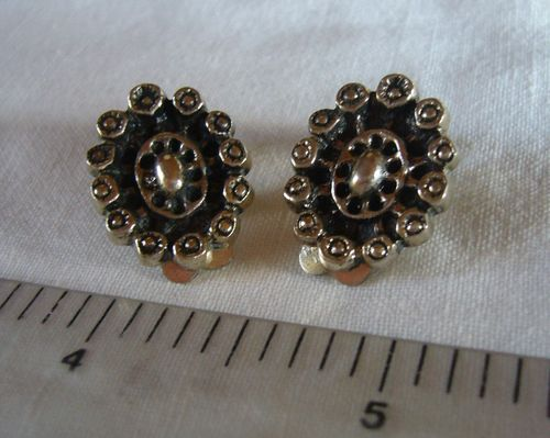 Silver BAS clip earrings