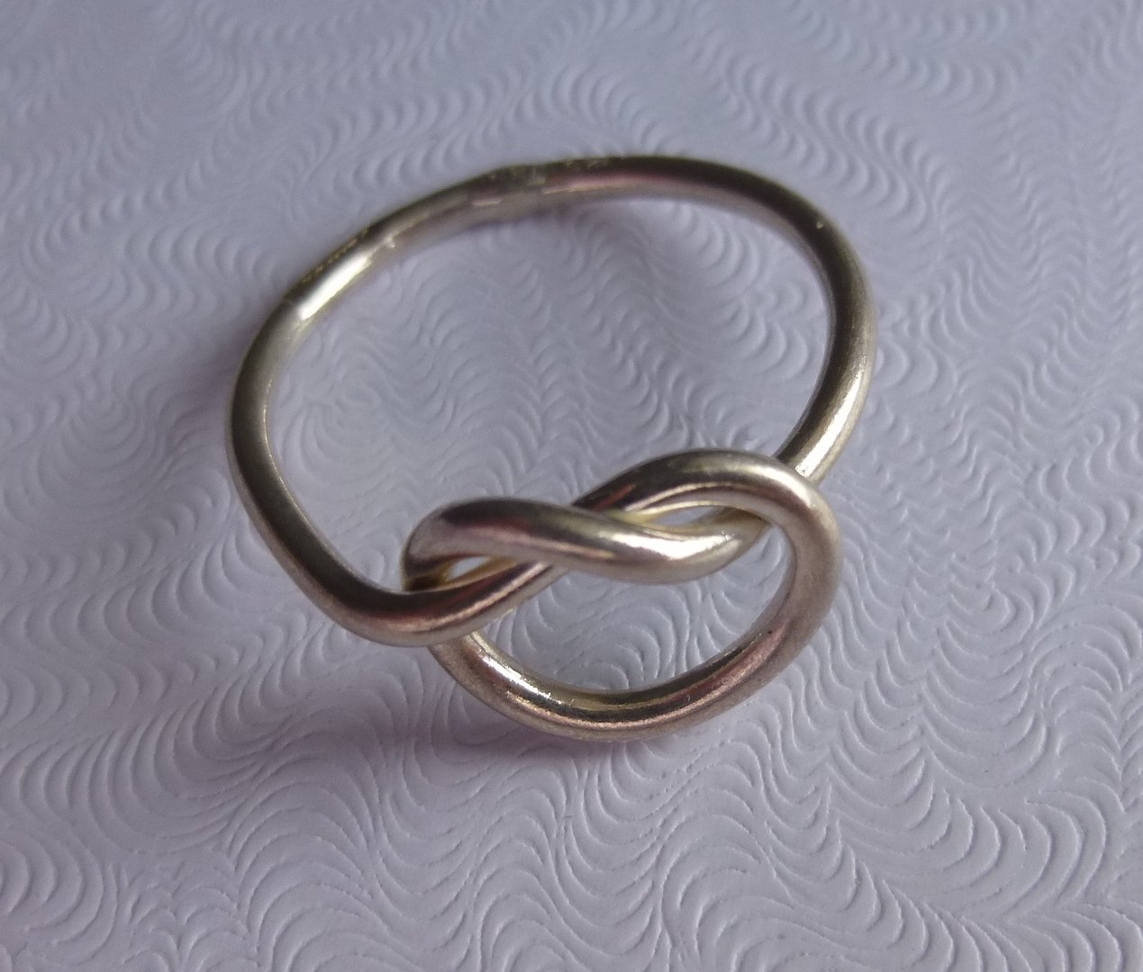 sterling silver knot ring sizes l and p