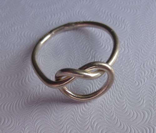 Danish Sterling silver knot ring, sizes L and P