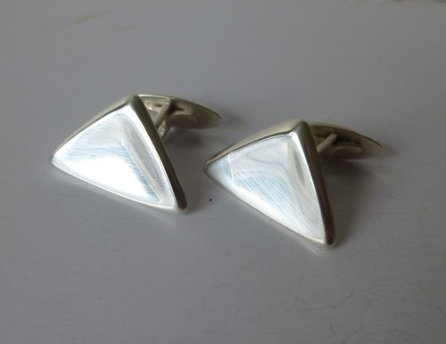 Ulrich Sterling silver triangular cufflinks