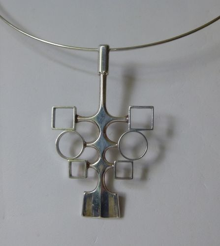 David-Andersen Sterling silver modernist pendant