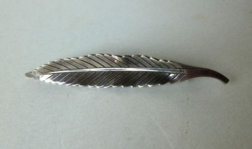 Anton Michelsen Sterling silver feather brooch