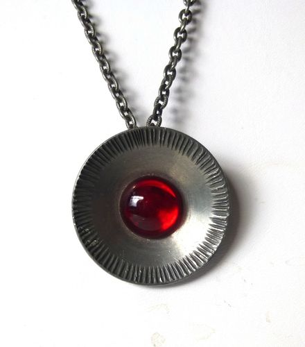 Jyde-Kunst pewter red pendant