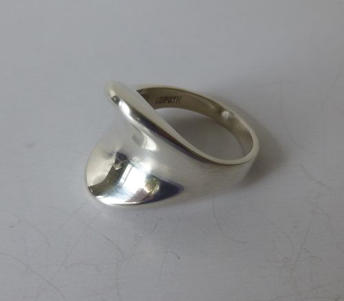 M.P.Christoffersen Sterling silver ring, size P /7.75 / 56