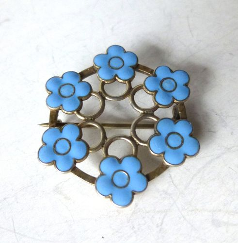 Anton Michelsen forget-me-not brooch