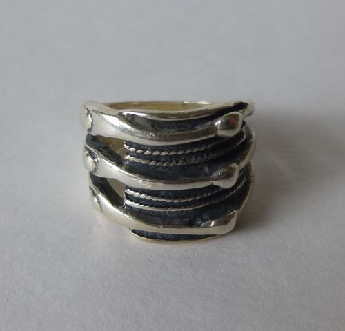 Aagaard Sterling silver chieftain ring, size K
