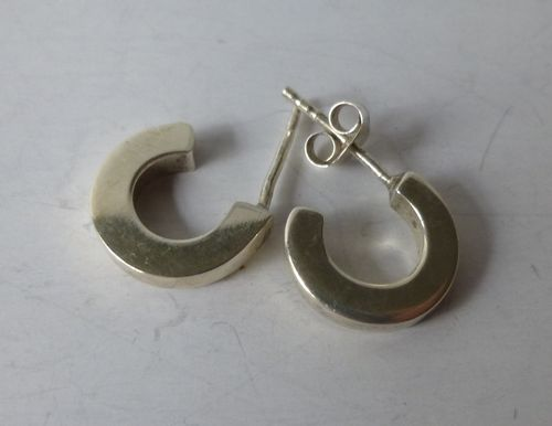 Silver hoops with posts