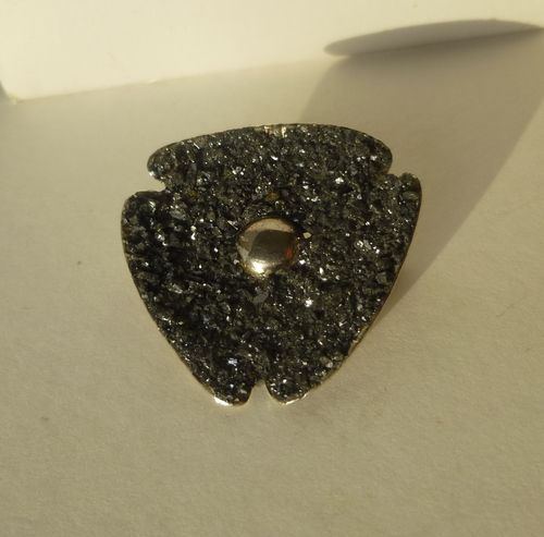 Alton Sterling silver Pyrite brooch