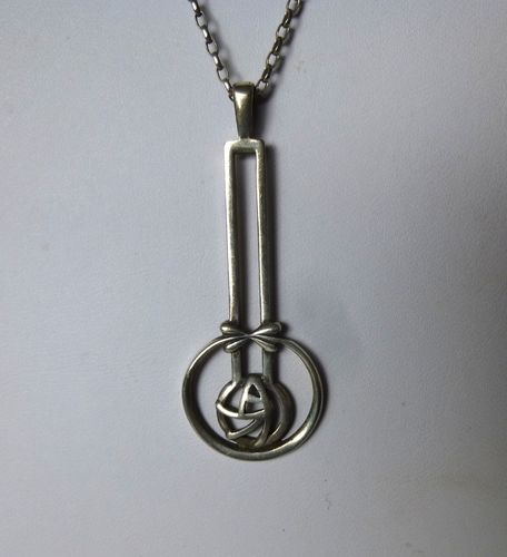 Carrick Jewellery Ltd Mackintosh inspired pendant + chain