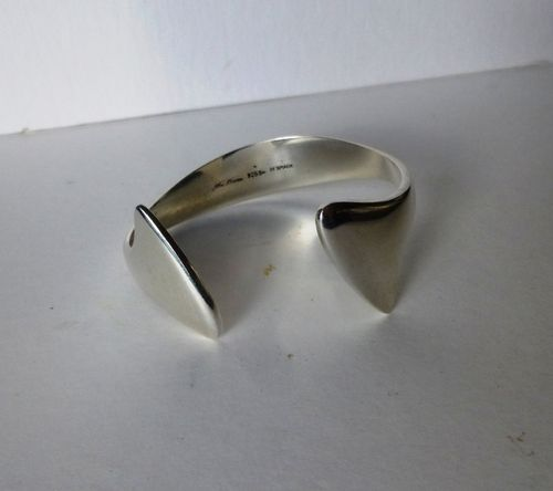 Hans Hansen Sterling silver arm cuff bangle