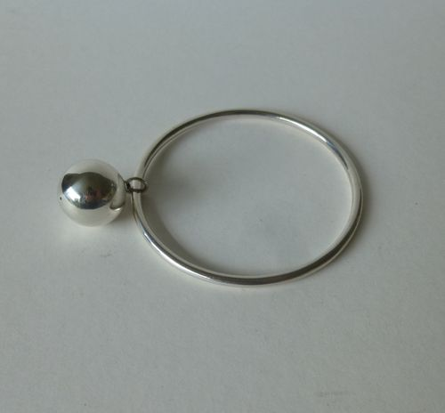 Aarre & Krogh Sterling silver bangle with ball