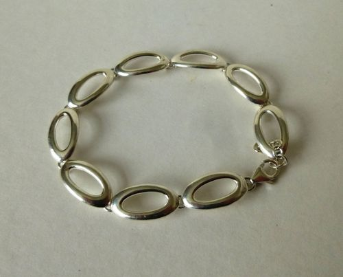 Scrouples Sterling modernist bracelet