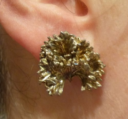 Flora Danica (unmarked) parsley earrings - studs