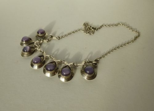 Herman Siersbøl Sterling amethyst necklace