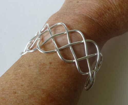 Keith Robinson Sterling silver lattice bangle
