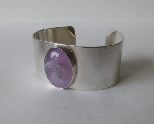 Keith Robinson Sterling silver amethyst bangle