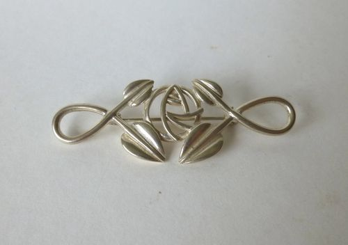Carrick Mackintosh-style Sterling silver brooch
