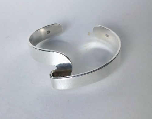 Georg Jensen Sterling silver 'Flip' bangle by Gail Spence