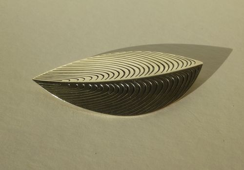 Anton Michelsen, Eigil Jensen, large Sterling silver stylised leaf brooch