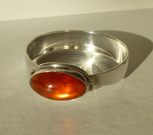 N.E.From Sterling silver amber bangle
