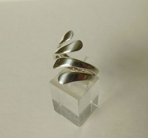 Andreas Mikkelsen Sterling silver ring,  adjustable