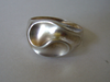 Aagaard Sterling crumple cast ring, size P