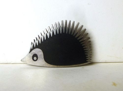 Warmind Sterling enamel hedgehog brooch