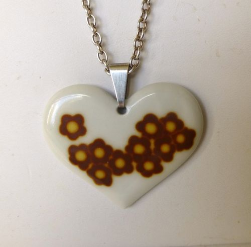 Royal Copenhagen  ceramic heart pendant,