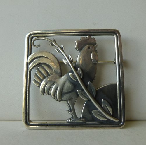 Georg Jensen Malinowski Cockerel Brooch, no 276