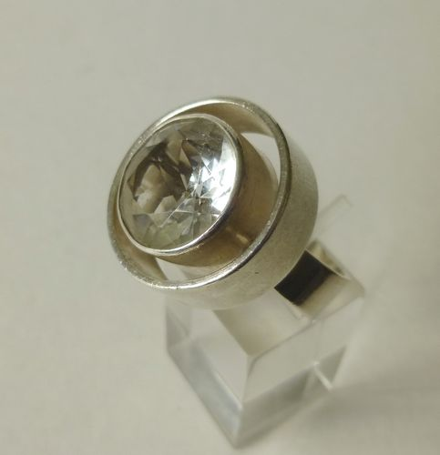 N E From Sterling crystal ring, size N-O