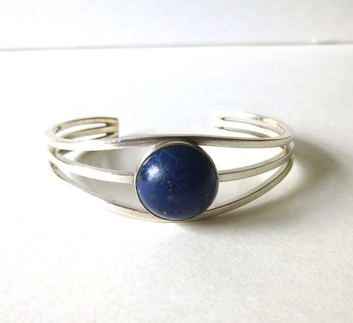 N E From Sterling lapis lazuli arm cuff