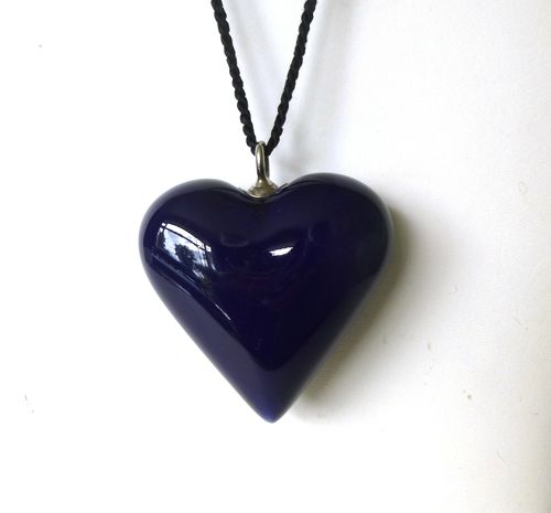 Royal Copenhagen huge porcelain heart pendant