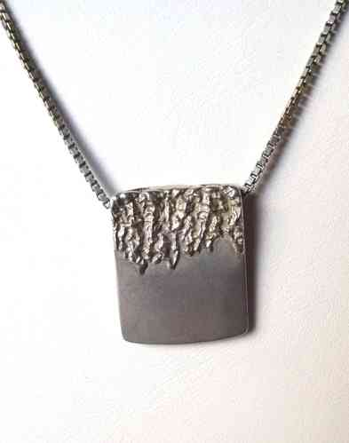 B Hertz Sterling unisex pendant on chain